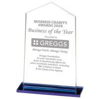 Downton Glass Trophy Award 130mm : New 2020