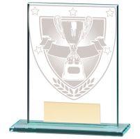 Millennium Achievement Jade Glass Trophy Award 110mm : New 2020