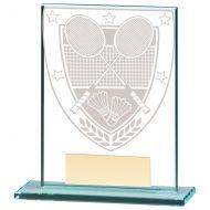 Millennium Badminton Jade Glass Trophy Award 110mm : New 2020