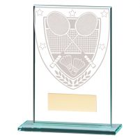 Millennium Badminton Jade Glass Trophy Award 125mm : New 2020