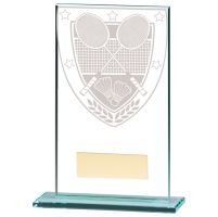 Millennium Badminton Jade Glass Trophy Award 140mm : New 2020