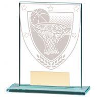 Millennium Basketball Jade Glass Trophy Award 110mm : New 2020