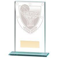 Millennium Basketball Jade Glass Trophy Award 140mm : New 2020