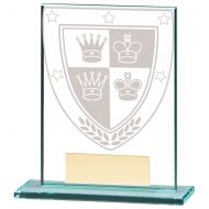 Millennium Chess Jade Glass Trophy Award 110mm : New 2020