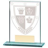 Millennium Chess Jade Glass Trophy Award 110mm : New 2020