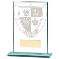 Millennium Chess Jade Glass Trophy Award 125mm : New 2020