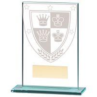 Millennium Chess Jade Glass Trophy Award 125mm : New 2020