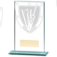 Millennium Cricket Jade Glass Trophy Award 140mm : New 2020