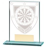 Millennium Darts Jade Glass Trophy Award 110mm : New 2020