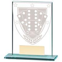 Millennium Dominoes Jade Glass Trophy Award 110mm : New 2020