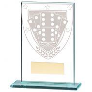 Millennium Dominoes Jade Glass Trophy Award 125mm : New 2020