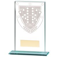 Millennium Dominoes Jade Glass Trophy Award 140mm : New 2020