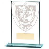 Millennium Equestrian Jade Glass Trophy Award 125mm : New 2020