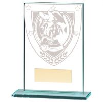 Millennium Equestrian Jade Glass Trophy Award 125mm : New 2020