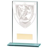 Millennium Equestrian Jade Glass Trophy Award 140mm : New 2020