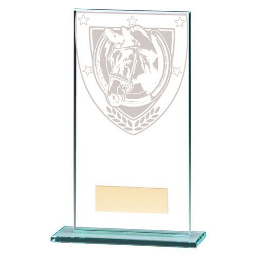 Millennium Equestrian Jade Glass Trophy Award 160mm : New 2020