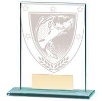 Millennium Fishing Jade Glass Trophy Award 110mm : New 2020