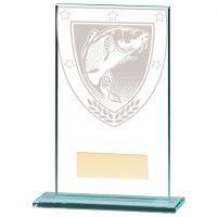 Millennium Fishing Jade Glass Trophy Award 140mm : New 2020