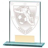 Millennium Football Boot and Ball Jade Glass Trophy Award 110mm : New 2020