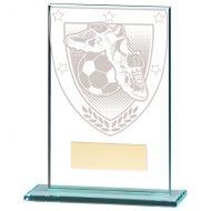 Millennium Football Boot and Ball Jade Glass Trophy Award 125mm : New 2020