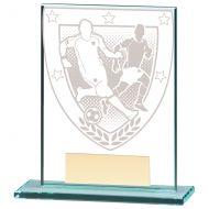 Millennium Football Jade Glass Trophy Award 110mm : New 2020