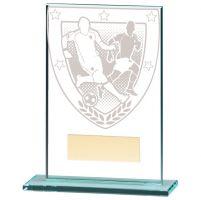 Millennium Football Jade Glass Trophy Award 125mm : New 2020