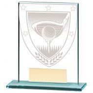 Millennium Golf Jade Glass Trophy Award 110mm : New 2020