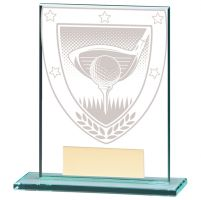 Millennium Golf Jade Glass Trophy Award 110mm : New 2020
