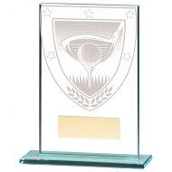 Millennium Golf Jade Glass Trophy Award 125mm : New 2020