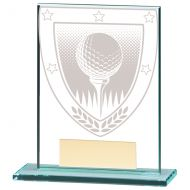 Millennium Golf Ball Jade Glass Trophy Award 110mm : New 2020