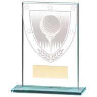 Millennium Golf Ball Jade Glass Trophy Award 125mm : New 2020