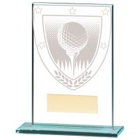 Millennium Golf Ball Jade Glass Trophy Award 125mm : New 2020