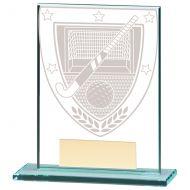 Millennium Hockey Jade Glass Trophy Award 110mm : New 2020