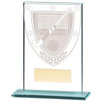 Millennium Hockey Jade Glass Trophy Award 125mm : New 2020