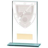 Millennium Hockey Jade Glass Trophy Award 140mm : New 2020