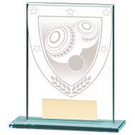 Millennium Lawn Bowls Jade Glass Trophy Award 110mm : New 2020