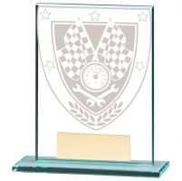 Millennium Motorsport Jade Glass Trophy Award 110mm : New 2020