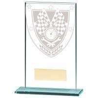 Millennium Motorsport Jade Glass Trophy Award 140mm : New 2020