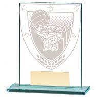 Millennium Netball Jade Glass Trophy Award 110mm : New 2020