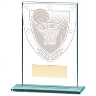 Millennium Netball Jade Glass Trophy Award 125mm : New 2020