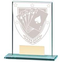 Millennium Poker Jade Glass Trophy Award 110mm : New 2020
