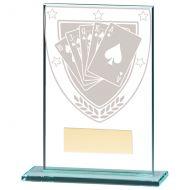Millennium Poker Jade Glass Trophy Award 125mm : New 2020