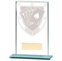 Millennium Poker Jade Glass Trophy Award 140mm : New 2020