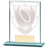 Millennium Rugby Jade Glass Trophy Award 110mm : New 2020