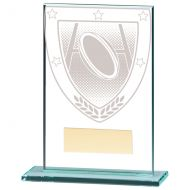 Millennium Rugby Jade Glass Trophy Award 125mm : New 2020