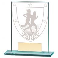 Millennium Running Jade Glass Trophy Award 110mm : New 2020