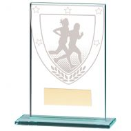 Millennium Running Jade Glass Trophy Award 125mm : New 2020