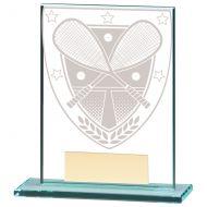 Millennium Squash Jade Glass Trophy Award 110mm : New 2020