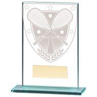 Millennium Squash Jade Glass Trophy Award 125mm : New 2020