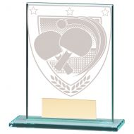 Millennium Table Tennis Jade Glass Trophy Award 110mm : New 2020